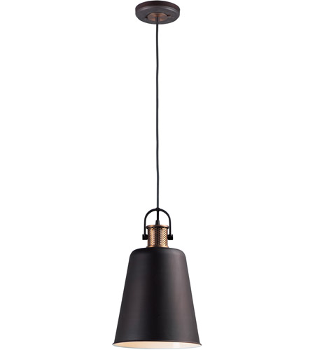 Maxim 10085OIAB Sedona 1 Light 10 inch Oil Rubbed Bronze and Antique Brass Single Pendant Ceiling Light photo