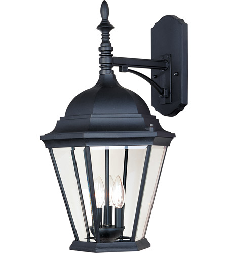 Maxim 1008BK Westlake 3 Light 22 inch Black Outdoor Wall Mount in Incandescent photo