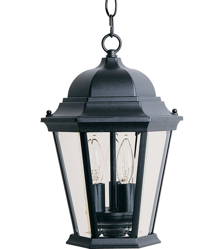 Maxim Lighting Westlake 3 Light Outdoor Hanging Lantern in Black 1009BK photo