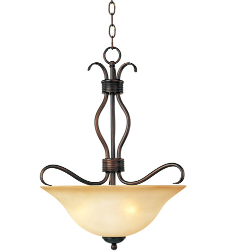 Maxim 10121WSOI Basix 3 Light 17 inch Oil Rubbed Bronze Pendant Ceiling Light in Wilshire photo