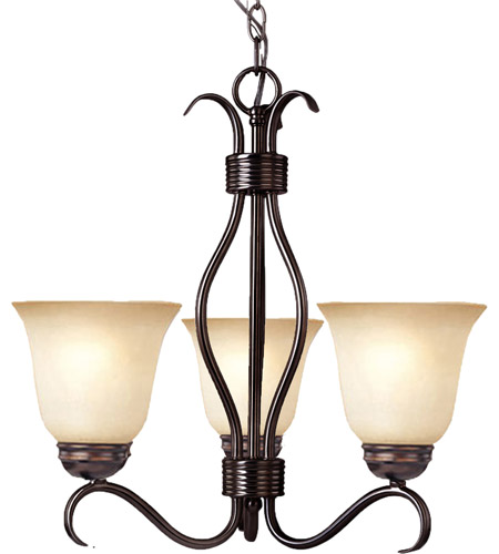 Maxim 10123WSOI Basix 3 Light 19 inch Oil Rubbed Bronze Mini Chandelier Ceiling Light in Wilshire photo