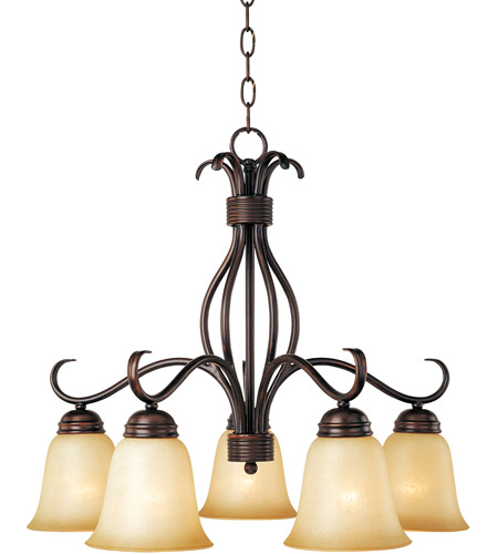 Maxim 10124WSOI Basix 5 Light 25 inch Oil Rubbed Bronze Down Light Chandelier Ceiling Light in Wilshire photo