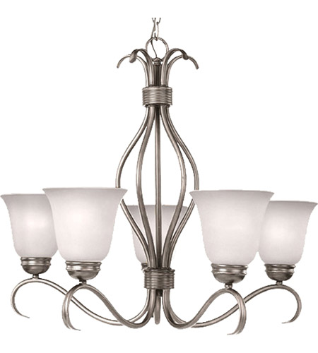 Maxim Lighting Basix 5 Light Single Tier Chandelier in Satin Nickel 10125ICSN photo
