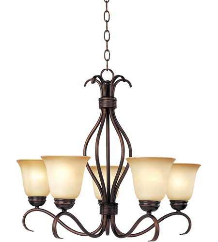 Maxim Lighting Basix 5 Light Single Tier Chandelier in Oil Rubbed Bronze 10125WSOI photo