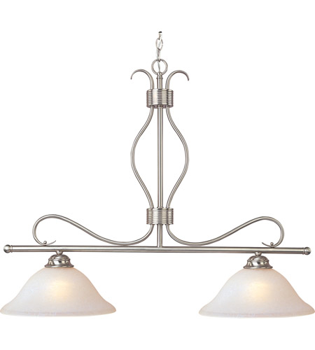 Maxim 10126ICSN Basix 2 Light 36 inch Satin Nickel Island Pendant Ceiling Light photo