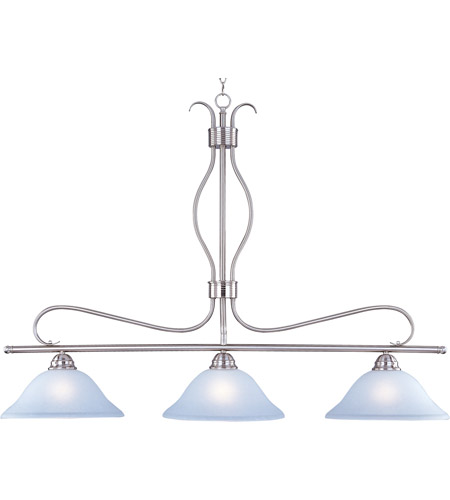 Maxim 10127ICSN Basix 3 Light 48 inch Satin Nickel Island Pendant Ceiling Light photo