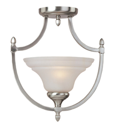 Maxim Lighting South Bend 1 Light Semi-Flush Mount in Satin Nickel 10150FTSN photo