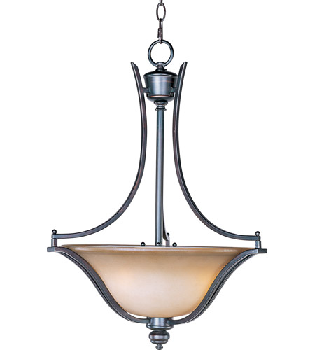 Maxim 10173WSOI Madera 3 Light 20 inch Oil Rubbed Bronze Pendant Ceiling Light photo