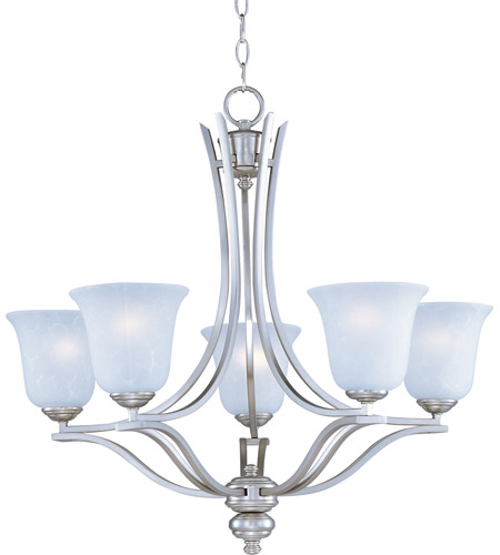 Maxim Lighting Madera 5 Light Single Tier Chandelier in Satin Silver 10175ICSS photo