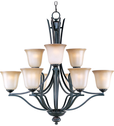 Maxim 10177WSOI Madera 9 Light 32 inch Oil Rubbed Bronze Multi-Tier Chandelier Ceiling Light photo