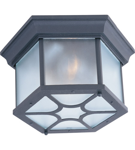 Maxim Lighting Crown Hill 2 Light Outdoor Ceiling Mount in Black 1017BK photo