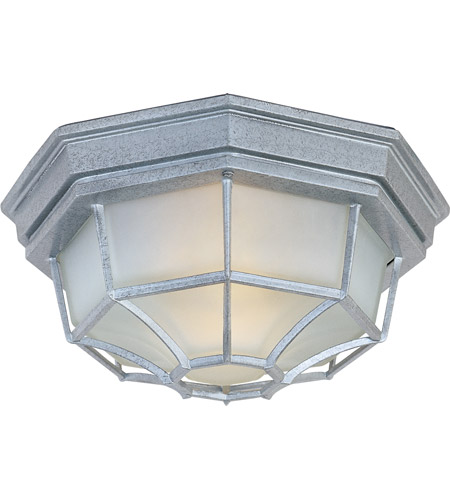Maxim Lighting Crown Hill 2 Light Outdoor Ceiling Mount in Pewter 1020PE photo