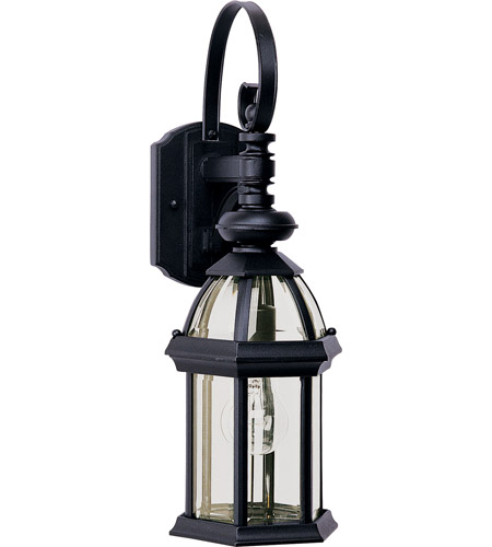 Maxim Lighting Builder Cast 1 Light Outdoor Wall Mount in Black 1021BK photo