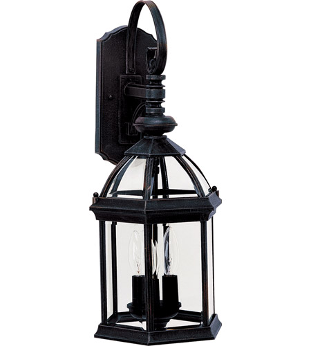 Maxim Lighting Builder Cast 3 Light Outdoor Wall Mount in Black 1022BK photo