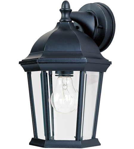 Maxim Lighting Builder Cast 1 Light Outdoor Wall Mount in Black 1024BK photo