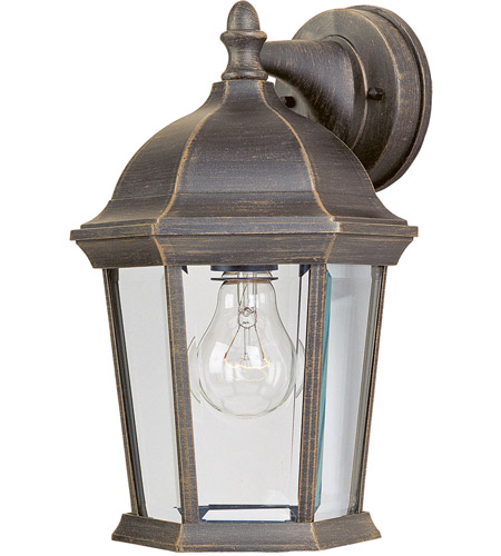 Maxim Lighting Builder Cast 1 Light Outdoor Wall Mount in Rust Patina 1024RP photo