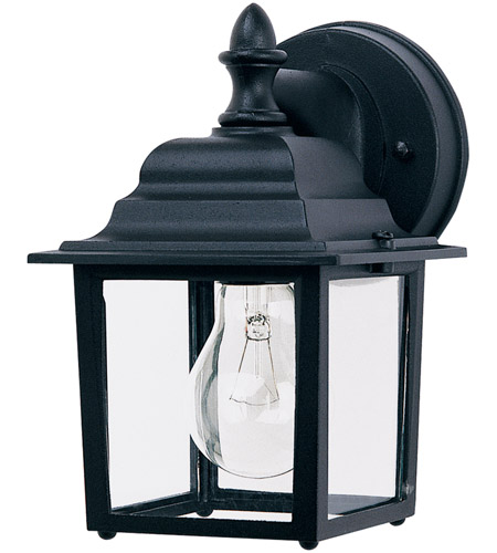 743bc1dab075c Maxim 1025BK Builder Cast 1 Light 9 inch Black Outdoor Wall Mount