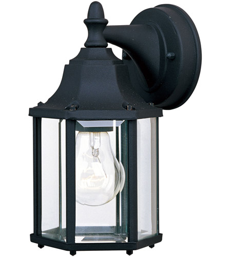 Maxim 1026BK Builder Cast 1 Light 10 inch Black Outdoor Wall Mount photo