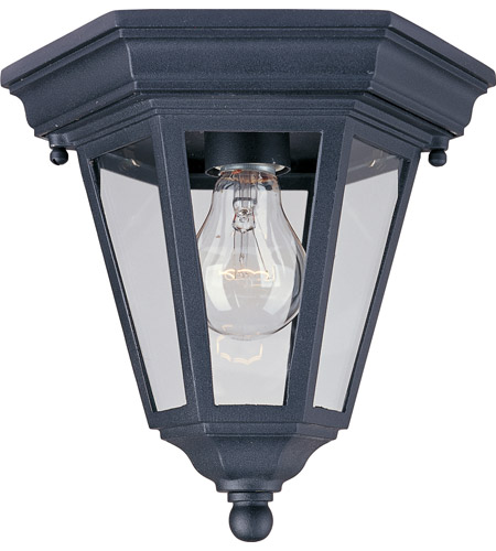 Maxim Lighting Westlake 1 Light Outdoor Ceiling Mount in Black 1027BK photo