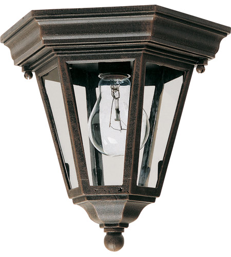 Maxim Lighting Westlake 1 Light Outdoor Ceiling Mount in Rust Patina 1027RP photo