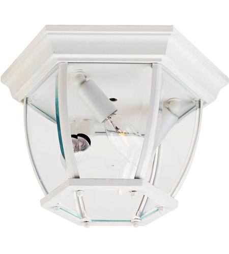 Maxim 1029WT Signature 3 Light 11 inch White Outdoor Ceiling Mount photo
