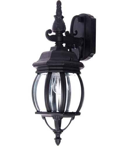 Maxim 1030BK Crown Hill 1 Light 16 inch Black Outdoor Wall Mount photo