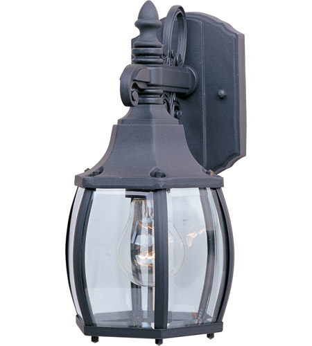 Maxim 1031BK Crown Hill 1 Light 11 inch Black Outdoor Wall Mount photo