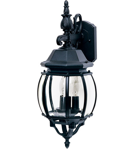 Black Crown Hill Outdoor Wall Lights