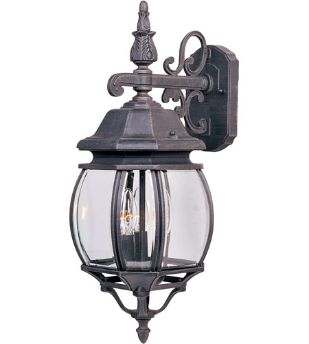 Maxim Lighting Crown Hill 3 Light Outdoor Wall Mount in Rust Patina 1034RP photo