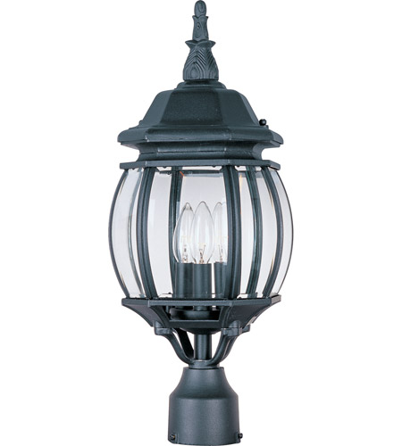 Maxim 1035BK Crown Hill 3 Light 21 inch Black Outdoor Pole/Post Lantern photo