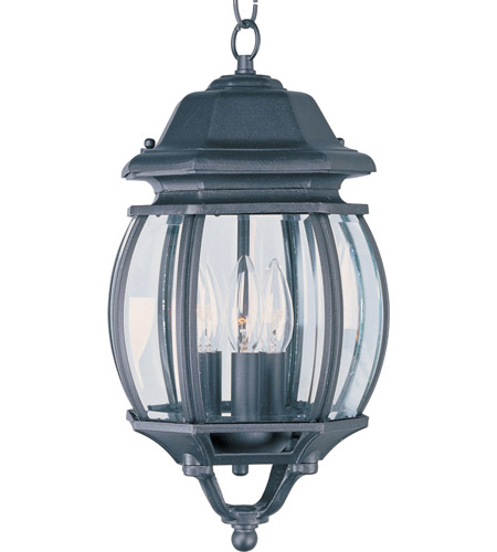 Maxim 1036BK Crown Hill 3 Light 8 inch Black Outdoor Hanging Lantern photo