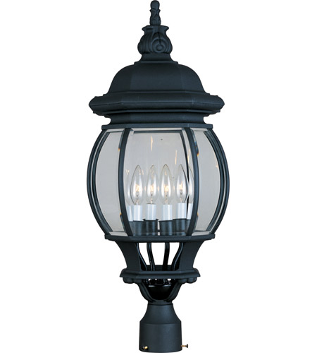 Maxim 1038BK Crown Hill 4 Light 27 inch Black Outdoor Pole/Post Lantern photo thumbnail