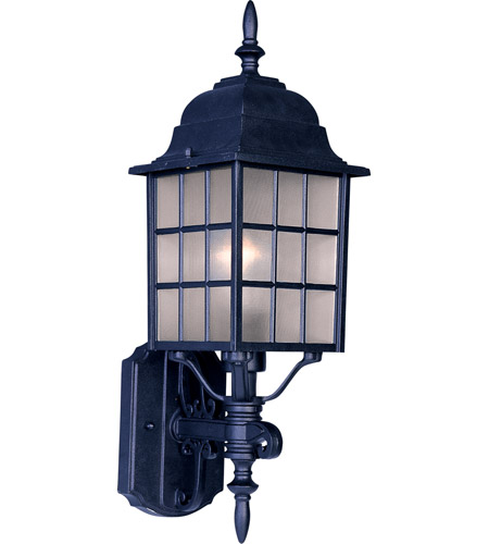 Maxim 1050BK North Church 1 Light 19 inch Black Outdoor Wall Mount photo