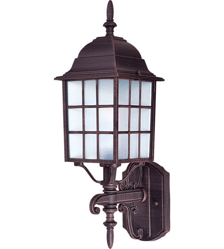 Maxim 1050RP North Church 1 Light 19 inch Rust Patina Outdoor Wall Mount photo