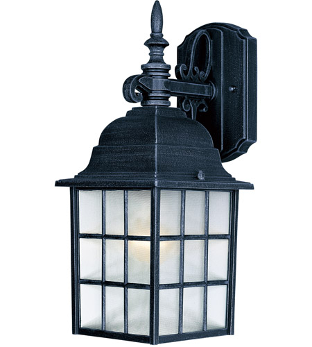 Maxim Lighting North Church 1 Light Outdoor Wall Mount in Black 1051BK photo