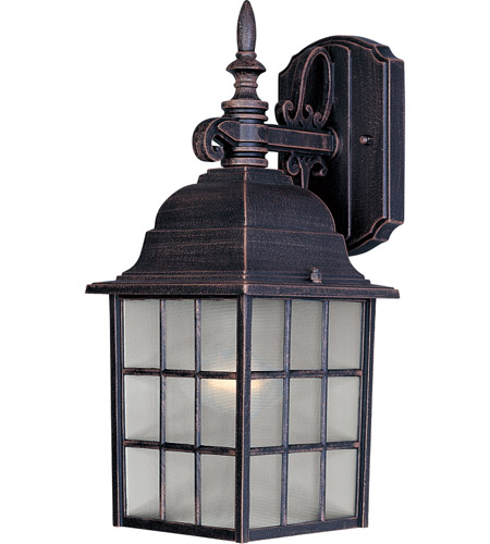 Maxim 1051RP North Church 1 Light 11 inch Rust Patina Outdoor Wall Mount photo