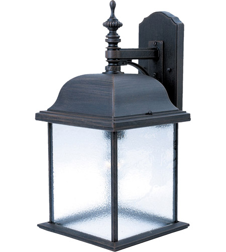 Maxim Lighting Senator 1 Light Outdoor Wall Mount in Rust Patina 1057RP photo