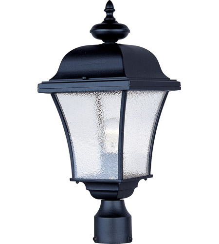 Maxim 1065BK Senator 1 Light 20 inch Black Outdoor Pole/Post Lantern photo