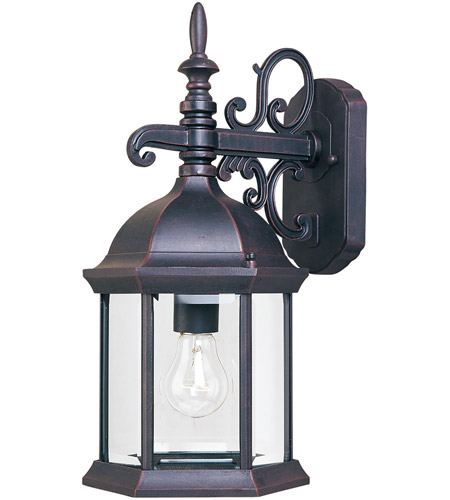 Maxim Lighting Builder Cast 1 Light Outdoor Wall Mount in Empire Bronze 1071CLEB photo