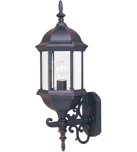 Maxim Lighting Builder Cast 1 Light Outdoor Wall Mount in Empire Bronze 1072CLEB photo