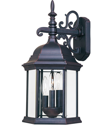 Maxim Lighting Builder Cast 3 Light Outdoor Wall Mount in Empire Bronze 1073CLEB photo