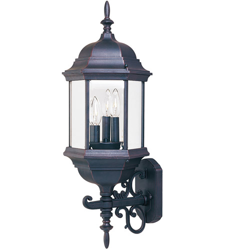 Maxim 1074CLEB Builder Cast 3 Light 26 inch Empire Bronze Outdoor Wall Mount photo