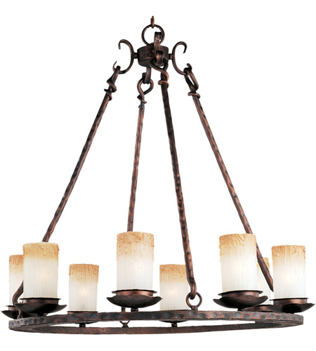 Maxim Lighting Notre Dame 8 Light Single Tier Chandelier in Oil Rubbed Bronze 10976WSOI photo
