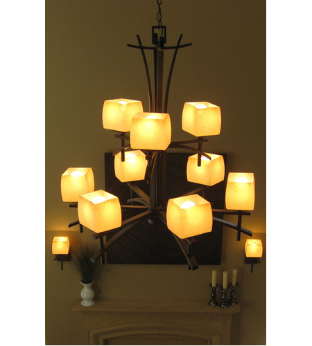 Maxim 10986WSRC Asiana 9 Light 33 inch Roasted Chestnut Multi-Tier Chandelier Ceiling Light photo