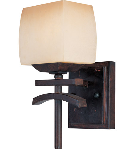 Maxim Lighting Asiana 1 Light Wall Sconce in Roasted Chestnut 10996WSRC photo