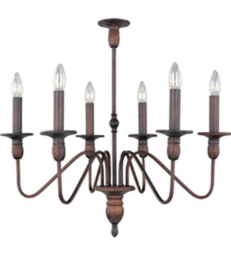 Maxim Lighting Towne 6 Light Single Tier Chandelier in Oil Rubbed Bronze 11034OI photo