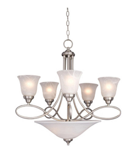 Maxim Lighting Nova 7 Light Multi-Tier Chandelier in Satin Nickel 11041MRSN photo