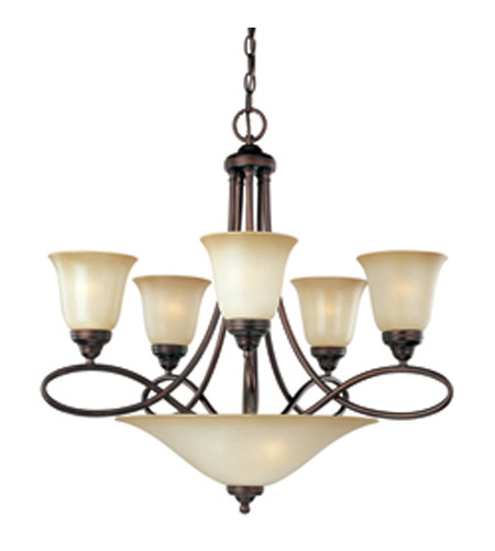 Maxim 11041WSOI Nova 7 Light 28 inch Oil Rubbed Bronze Multi-Tier Chandelier Ceiling Light photo