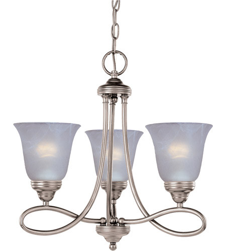 Maxim 11042MRSN Nova 3 Light 18 inch Satin Nickel Mini Chandelier Ceiling Light photo