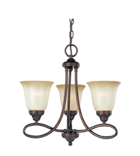 Maxim Lighting Nova 3 Light Mini Chandelier in Oil Rubbed Bronze 11042WSOI photo